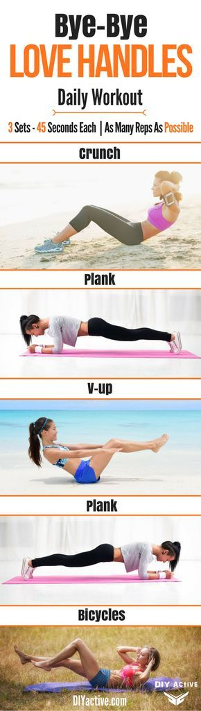 Torch your love handles with this daily workout and then follow the diet to help you shed even more pounds! #weightloss #workouts #abs #core #6pack #coreworkouts #exercise #HealthyWeightLoss