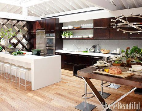 Showcased in New York's Rockefeller Center, the 2010 Kitchen of the Year design by Jeff Lewis was a perfect blend of contemporary design and rustic warmth.