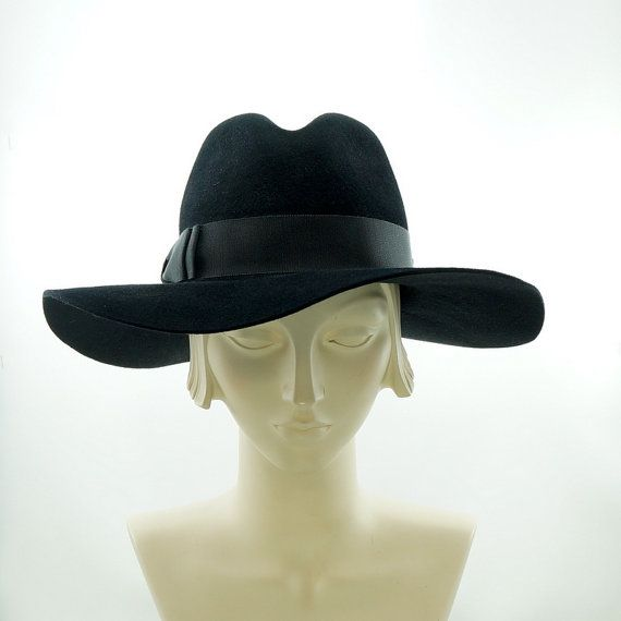 Wide Brim Fedora Hat for Women   Vintage by TheMillineryShop, $235.00