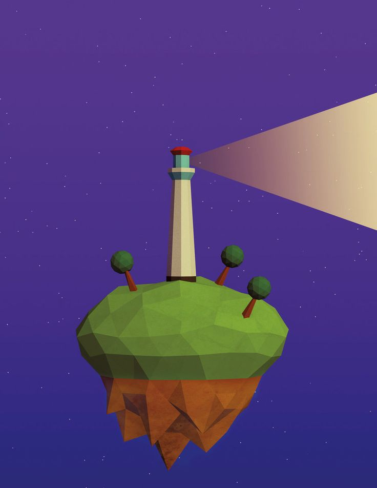 Low poly island with lighthouse by FilipMas