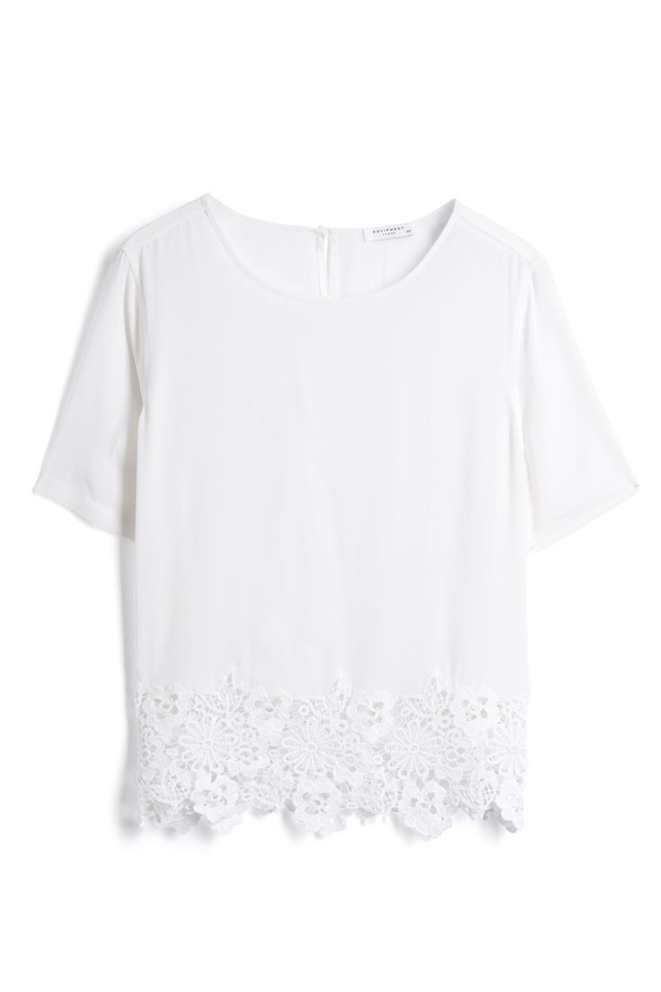 White crocheted trim silk blouse. So classic and feminine! Sign up for Stitch Fix and your Stylist will send the perfect pieces right to your doorstep. Fill out a quick Style Profile online, set your budget & try on handpicked styles in your own home. Keep what you love and send the rest back. Free shipping & returns, always! #ad