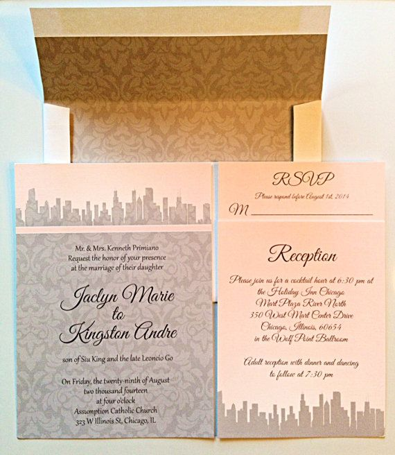97 best my wedding designs images on pinterest wedding designs city themed wedding invitations with damask christimariecreative stopboris Choice Image