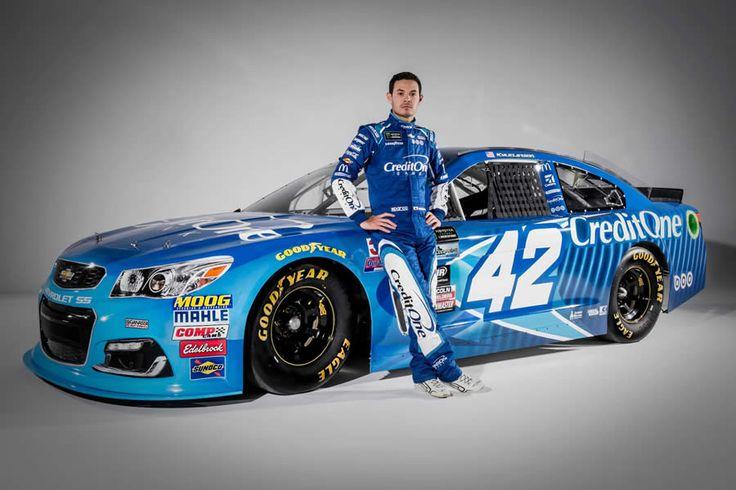 2017 Kyle Larson Car #42 NASCAR Cup Series https://racingnews.co/2017/01/18/kyle-larson-2017-car-credit-one-bank-racecar/ #kylelarson