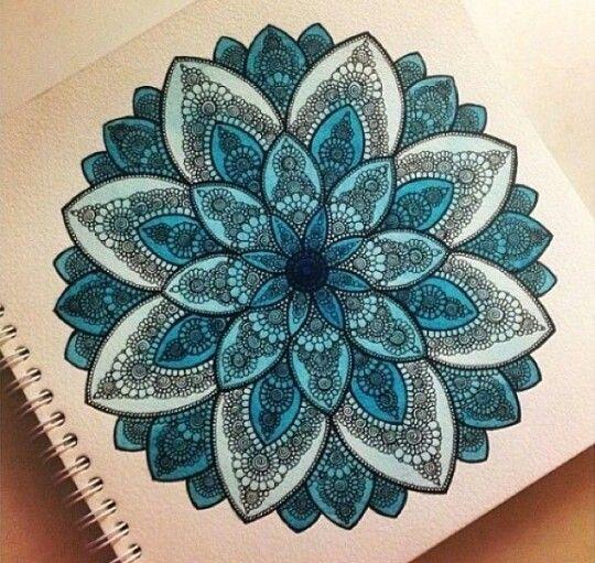 Beautiful madala tattoo sketch