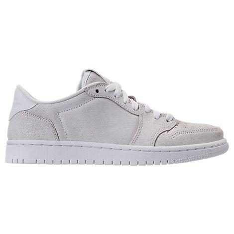 NIKE WOMEN'S AIR JORDAN RETRO 1 LOW NO SWOOSH CASUAL SHOES, WHITE. #nike #shoes #
