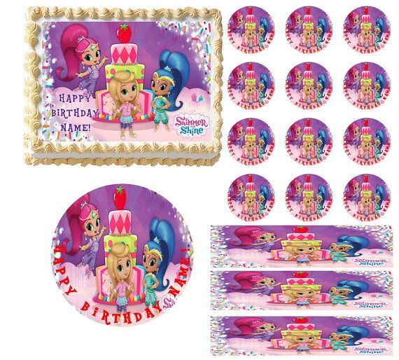 Shimmer and Shine Edible Cake Topper Image by ...