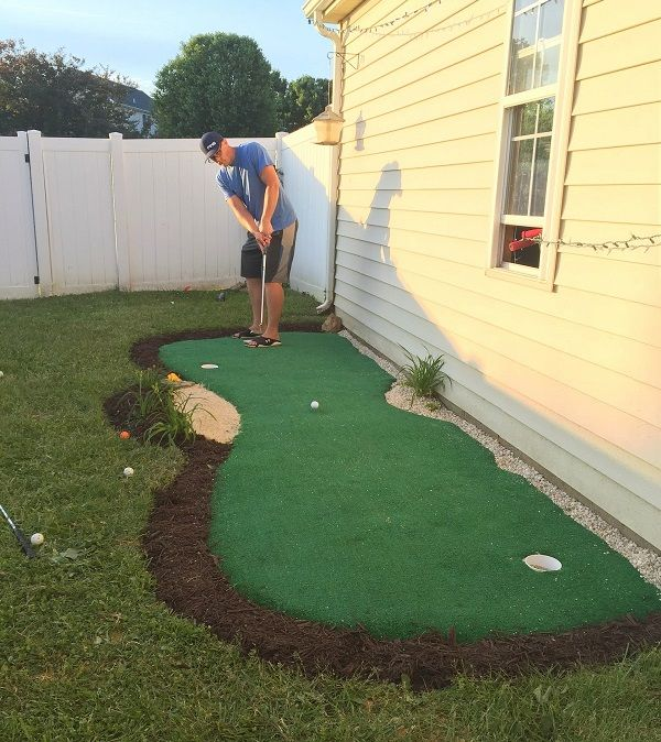 backyard putting green on pinterest golf practice putting green