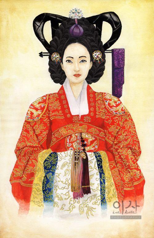 Korean Traditional Concubine Wedding Dress by IsabellaBLK on DeviantArt