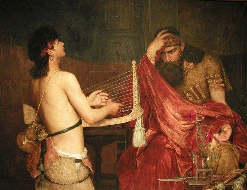 Ernst Josephson  (1851-1906): David y Saul, 1878.