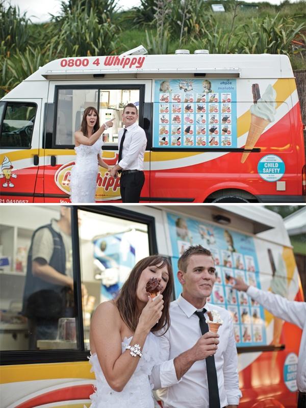 Mr Whippy ice cream truck at their wedding - love it!