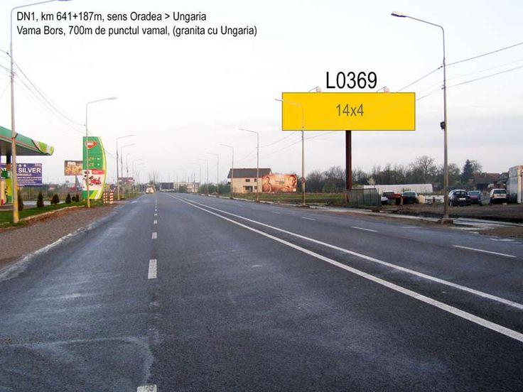 Locatie publicitara format unipol 14x4m in Vama Bors (Oradea)
