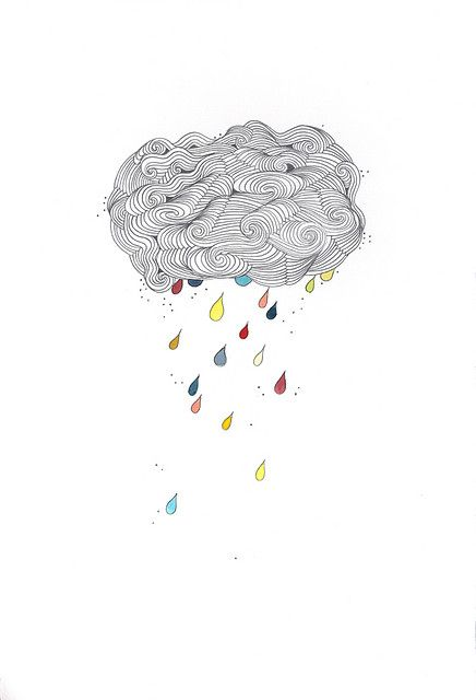raining, sketched, illustration, multicolored-rain drops, circular motions #doodles