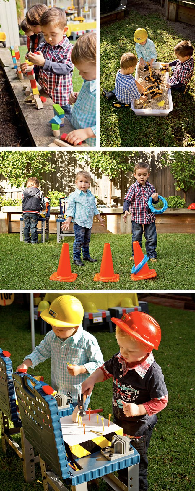 CAUTION! Construction Party Straight Ahead! | Easy peasy party games and ideas for keeping those little builders entertained at the birthday party.