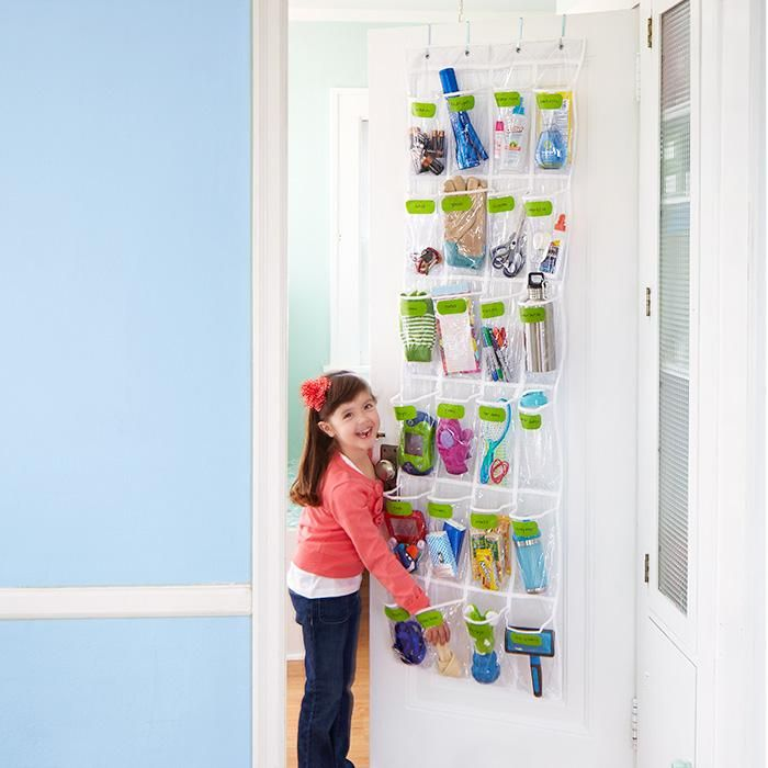 Use An Over The Door Shoe Organizer To Keep A Kids Room Tidy.