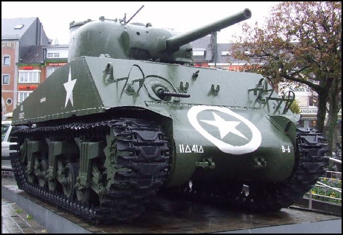 Bastogne, Belgium. How would you like to have a tank in the center of your town?