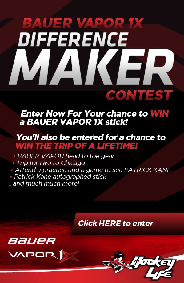 Enter Now for your chance to WIN a Bauer Vapor 1X stick and the trip of a lifetime! Enter Here ---> woobox.com/986fq2