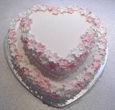 Image result for 2 tier heart shaped wedding cakes