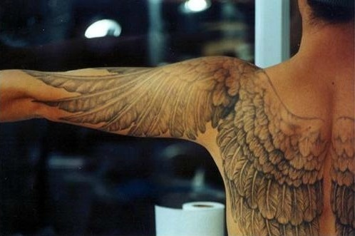 Stunning. Part of me wants wing tattoos, but they'd have to be like this (go hard or go home) and this is a little too intense for me.: Tattoo Ideas, Backtattoo, Back Tattoo, Body Art, Tattoo Wings, A Tattoo, Tattoo Design, Tattoo Ink, Angel Wings Tattoo