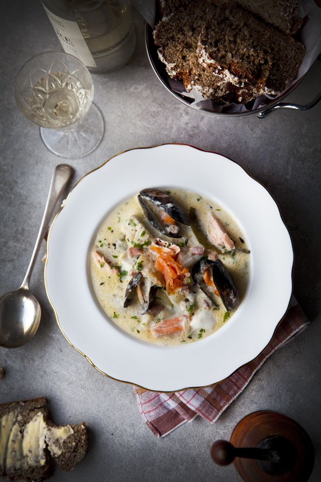 Howth Head Seafood Chowder | DonalSkehan.com, A must try when visiting Howth.