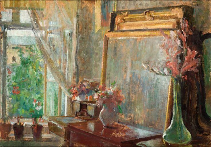 """Olga Boznańska, """"Wnętrze"""", 1906, wł. Muzeum Narodowe w Krakowie"""