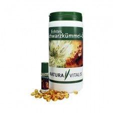 Original Natura Vitalis Echtes Schwarzkümmelöl 1250 Kapseln + Roll On 10ml Ist ab sofort wieder vorrätig.