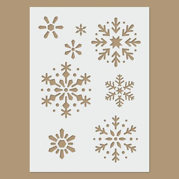 Snowflake Stencil by StencilDirect on Etsy, £3.95