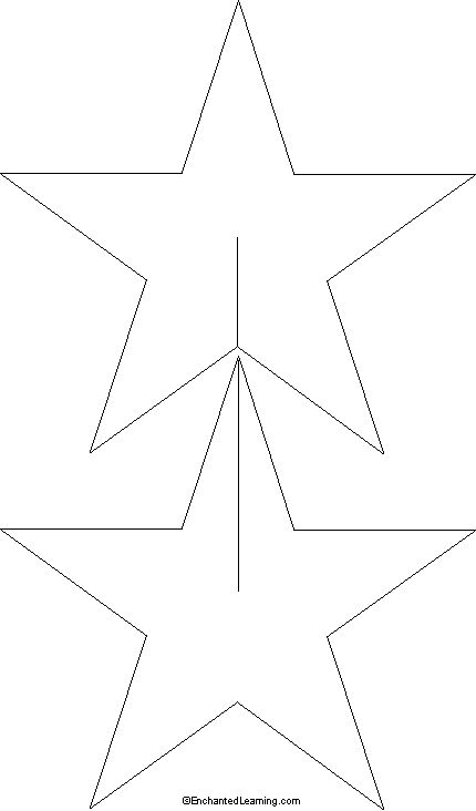 Star Decoration Template Printout - EnchantedLearning.com