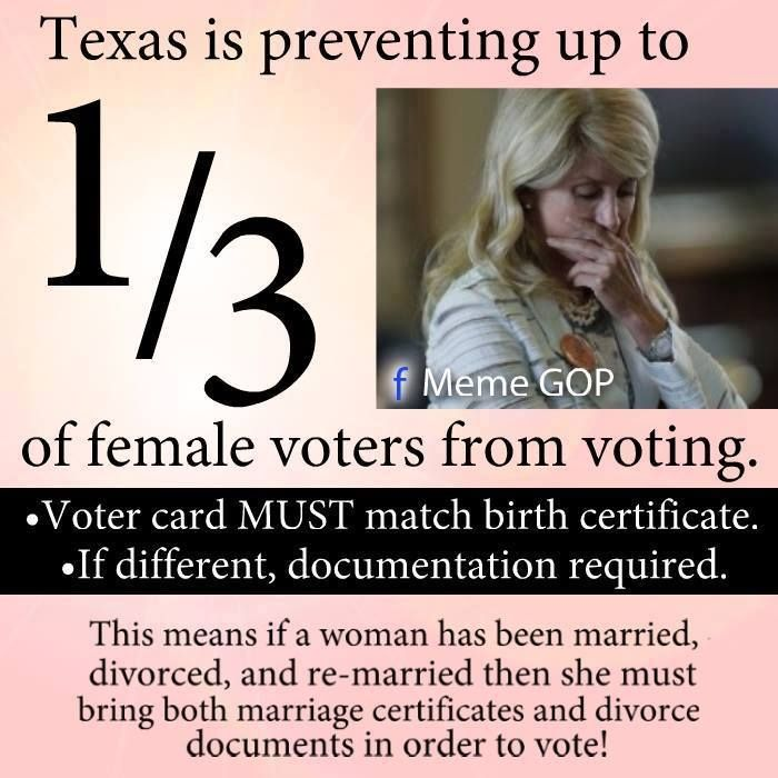 PLUS, Drivers Licenses, most often used as voter IDs, require married women to use their maiden name as their middle name - so it does not match their LEGAL name either. WHAT'S THIS HOCUS POCUS?