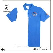 2015 blue and white piqued embroidery logo two-tone polo shirt  best buy follow this link http://shopingayo.space