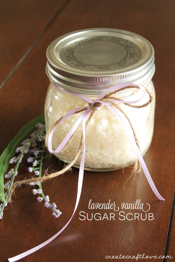 Lavender Vanilla Sugar Scrub | Create Craft Love
