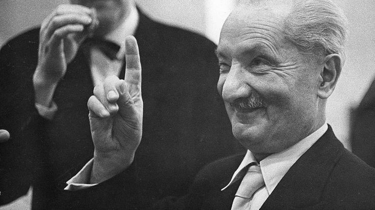 Martin Heidegger, German philosopher [1889-1976]-  He is considered, with Ludwig Wittgenstein, as one of the most influential thinkers in contemporary philosophy.
