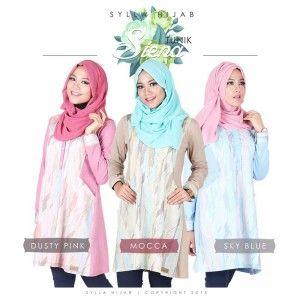 Baju Atasan Blouse Wanita Tunik Siena | Sylla Hijab  http://distromuslimah.net/baju-atasan-blouse-wanita-tunik-siena-sylla-hijab/