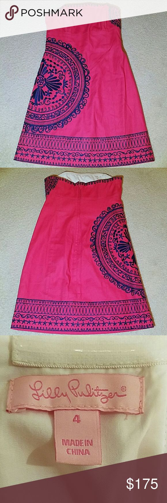 Lilly Pulitzer  Strapless Dress ( Sale!) Stunning colors! Perfect condition. Never worn. Length is 28.5 Lilly Pulitzer Dresses Midi