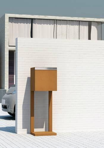 die besten 25 standbriefkasten edelstahl ideen auf pinterest standbriefkasten hausnummer. Black Bedroom Furniture Sets. Home Design Ideas
