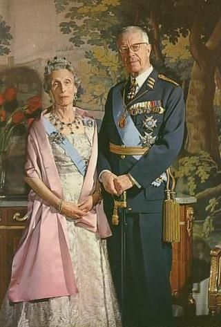 King Gustaf Adolf VI of Sweden and Queen Louise