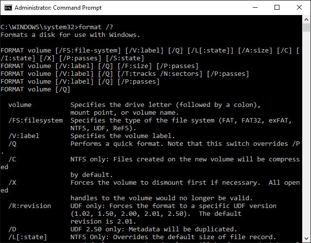 How to Use the Format Command in Windows