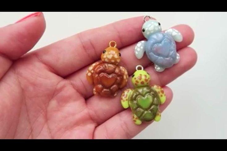 Heart Sea Turtle Polymer Clay Charms | Crafty Amino