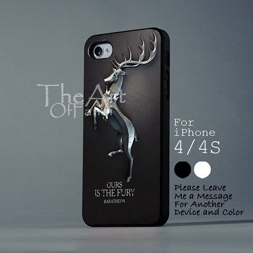 Game of thrones The fury baratheon- iPhone 4/4s Black Hard Plastic