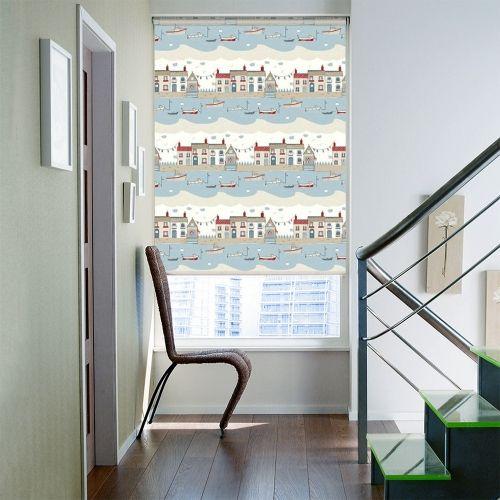 Lydney Blue Roller blinds
