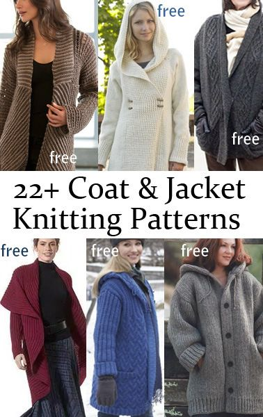 Free Jacket and Coat Knitting Patterns
