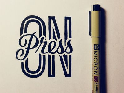Dribbble - Press On by Sean McCabe #lettering #type #dribbble