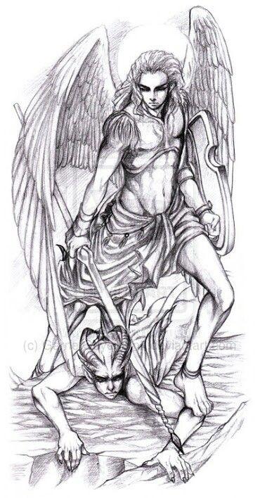 Michael vs. Satan tattoo idea