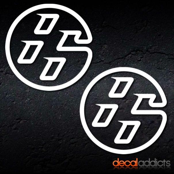 2x toyota gt86 emblem vinyl decals stickers 85mm trd drifting jdm
