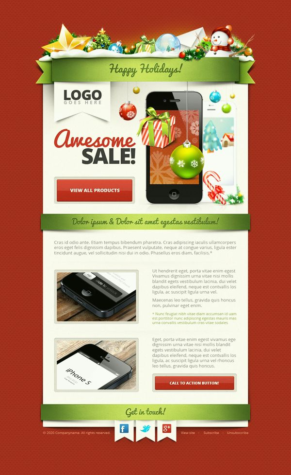 12 best 12 of the Best Holiday \ Christmas Email Newsletter - email newsletter template