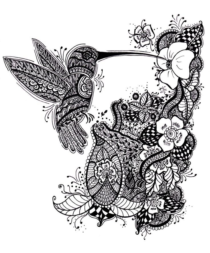 Mehndi Flower Bunch : Henna style tattoos hummingbird krystal