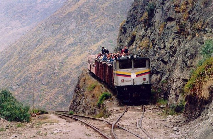 Devil's Nose - La Nariz del Diablo, Ecuador. Craziest train ride ever!                                                                                                                                                                                 More