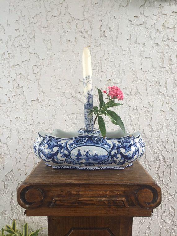 1800's Jardiniere Candlestick Centerpiece 花王 by GuamAntiquesNstuff