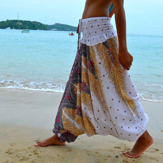 Thai Harem Pants Hippie Jasmine Jumpsuit Trousers Genie New Gypsy Bohemian