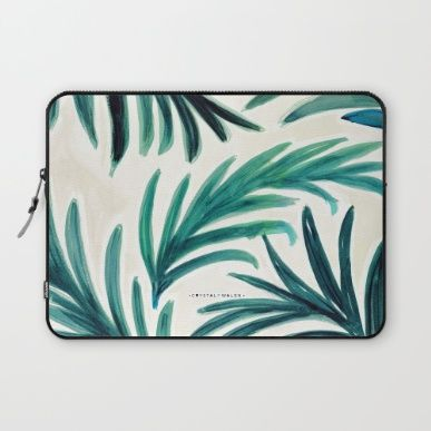 Laptop Sleeve featuring Palm by CRYSTAL WALEN