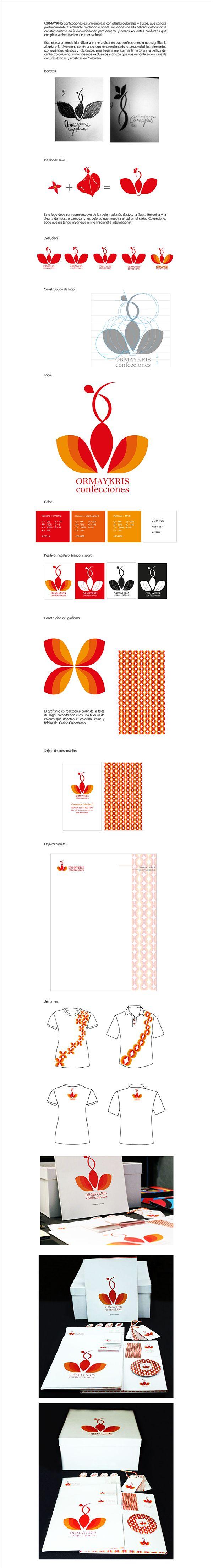 ORMAYKRIS confecciones on Behance #gale #utadeo_caribe #graphicdesign #design #logo